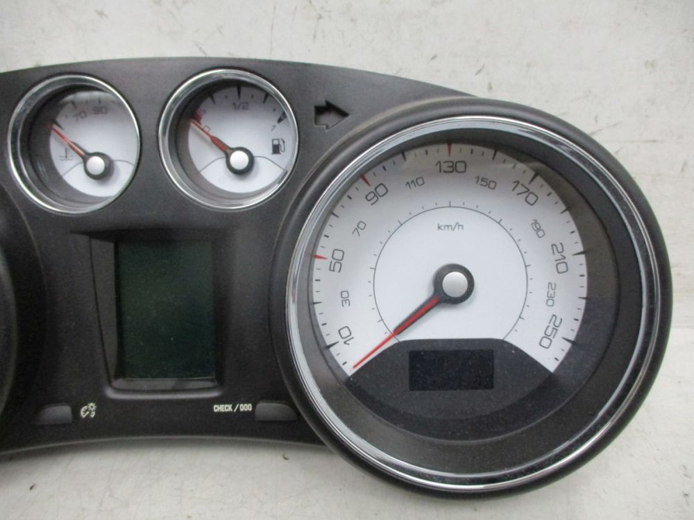 Speedometer Instrument Cluster kmh Peugeot 308 Sw 1.6 HDI ...