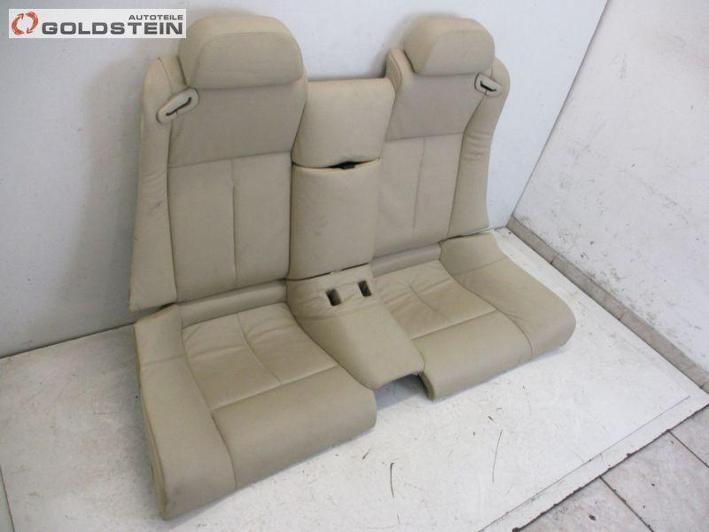 Rücksitzbank Leder nicht geteilt Rückbank Sitz hinten Creme Beige DakotaBMW 6 (E63) 645 CI