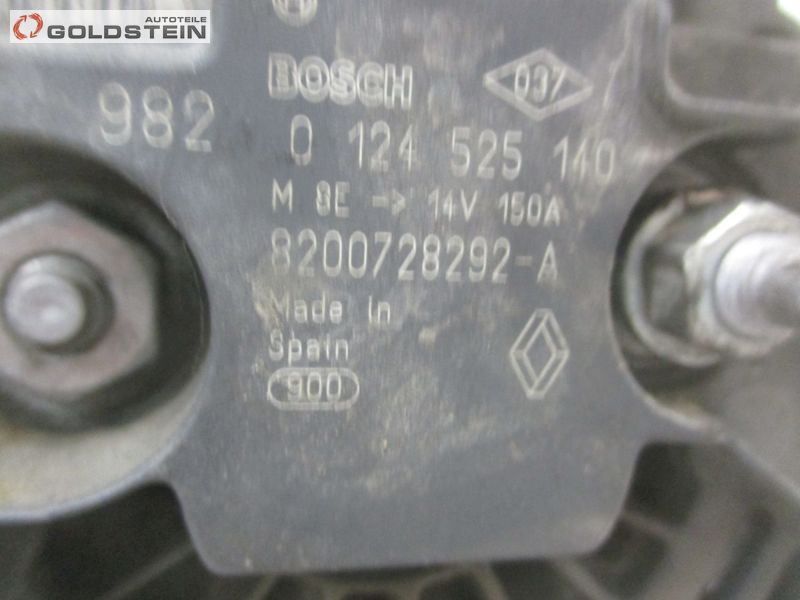 Lichtmaschine Generator Lima 150ANISSAN QASHQAI (J10, JJ10) 1.5